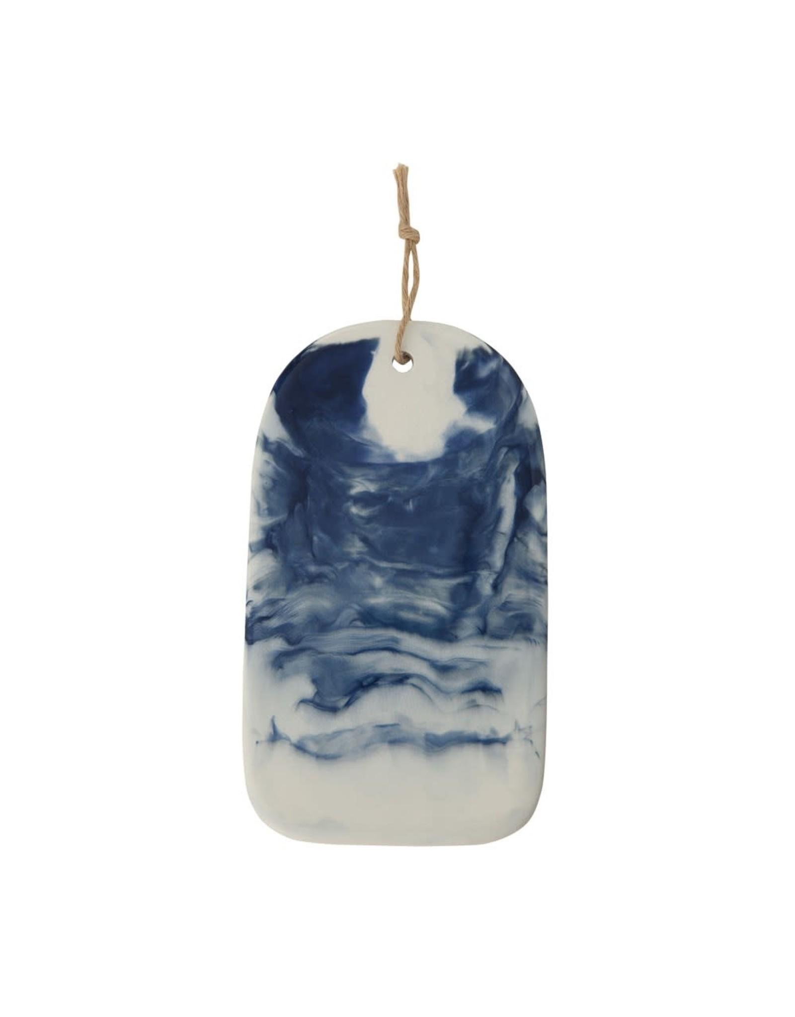 Creative Co-op Blue Marble Ceramic Cheese/Cutting  Board