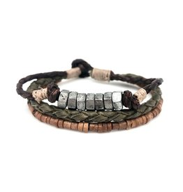 Anju Jewelry Aadi Silver Nuts Men's Bracelet