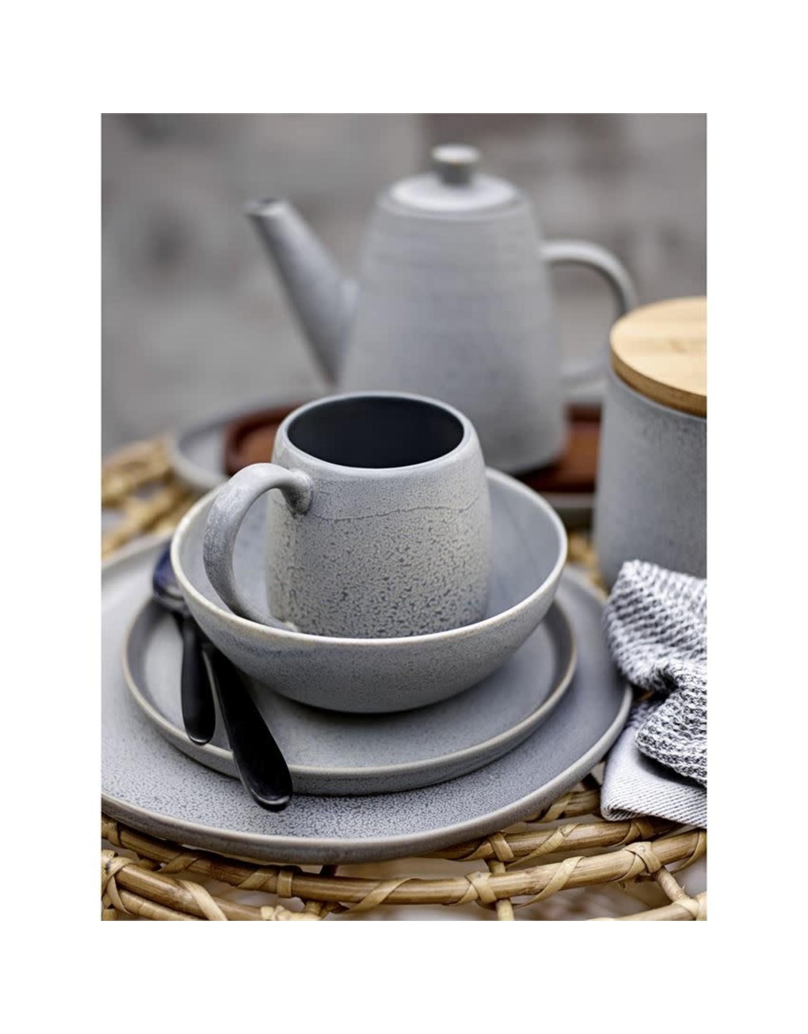 "Bloomingville 11"" Matte Stoneware Plate - Grey"