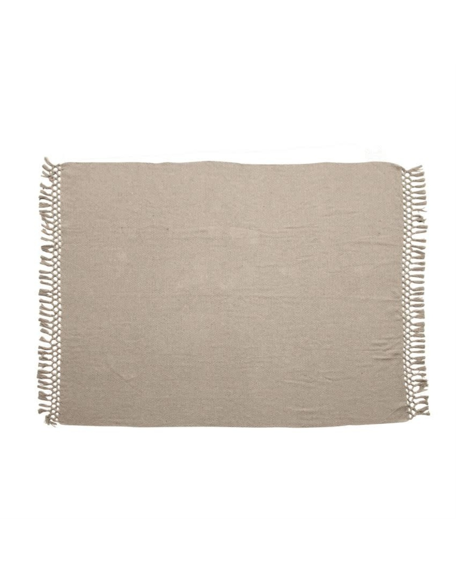 "Bloomingville 60"" x 50"" Recycled Cotton Throw - Grey"