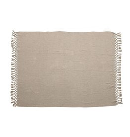 """Bloomingville 60"""" x 50"""" Recycled Cotton Throw - Grey"""
