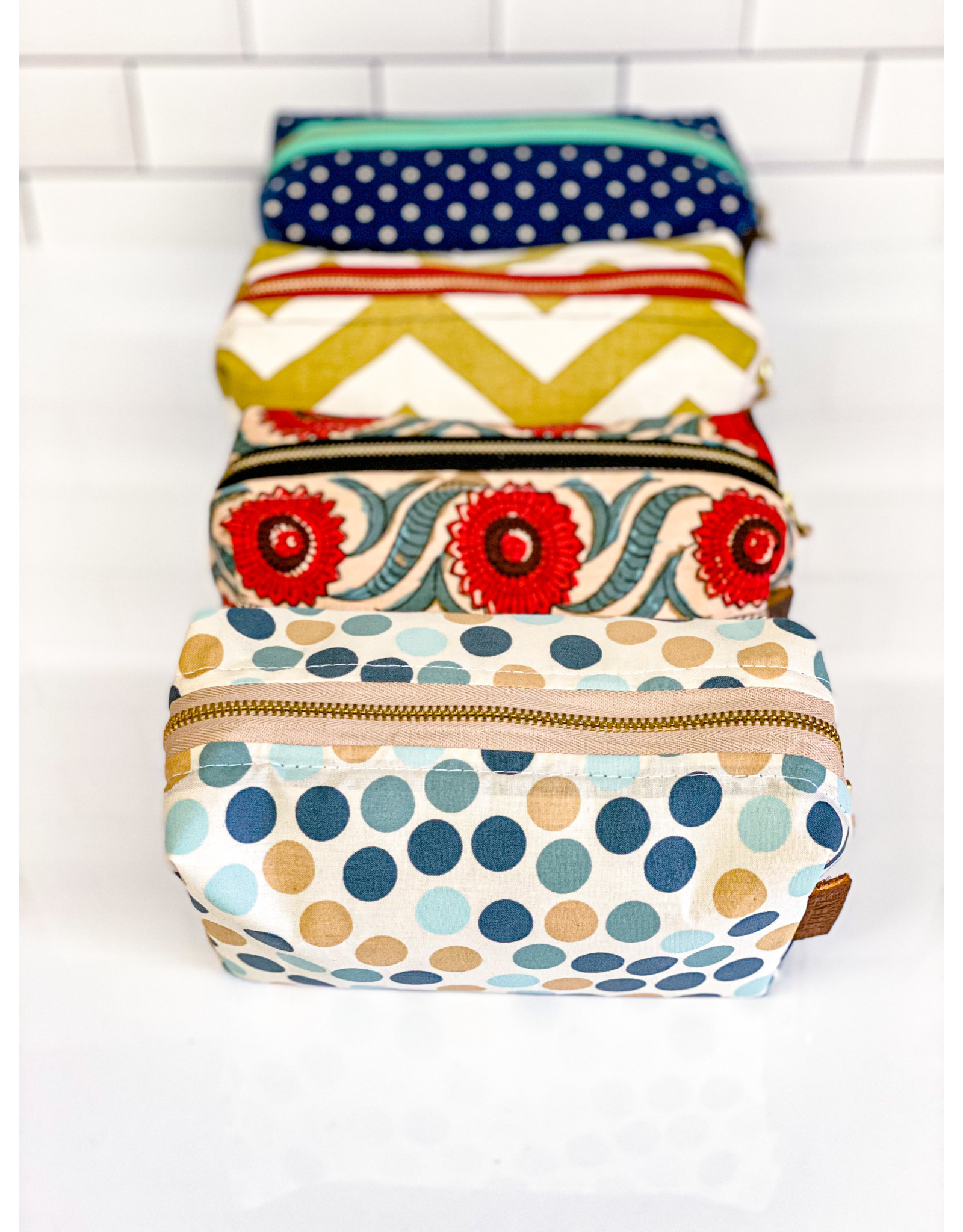 Repurposed On Purpose Upcycled Fabric Makeup Bag