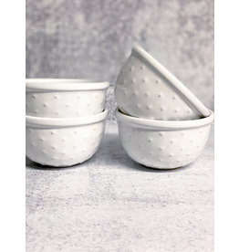 "The Florist & The Merchant 4"" Ceramic Finger Bowl - White"