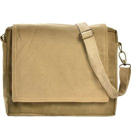 Vintage Addiction Recycled Military Tent Messenger Bag
