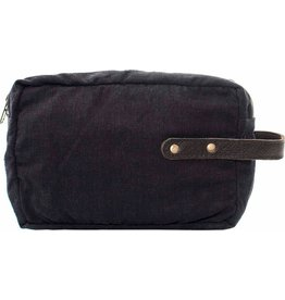 Vintage Addiction Shaving Bag - Charcoal