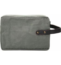 Vintage Addiction Shaving Bag - Light Grey