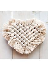 Hugg Mission Market Macrame Heart Coasters