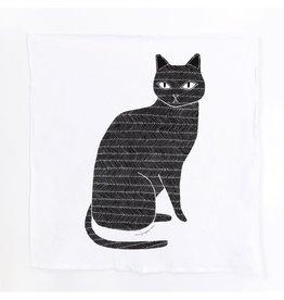 Gingiber Black Cat  Tea Towel
