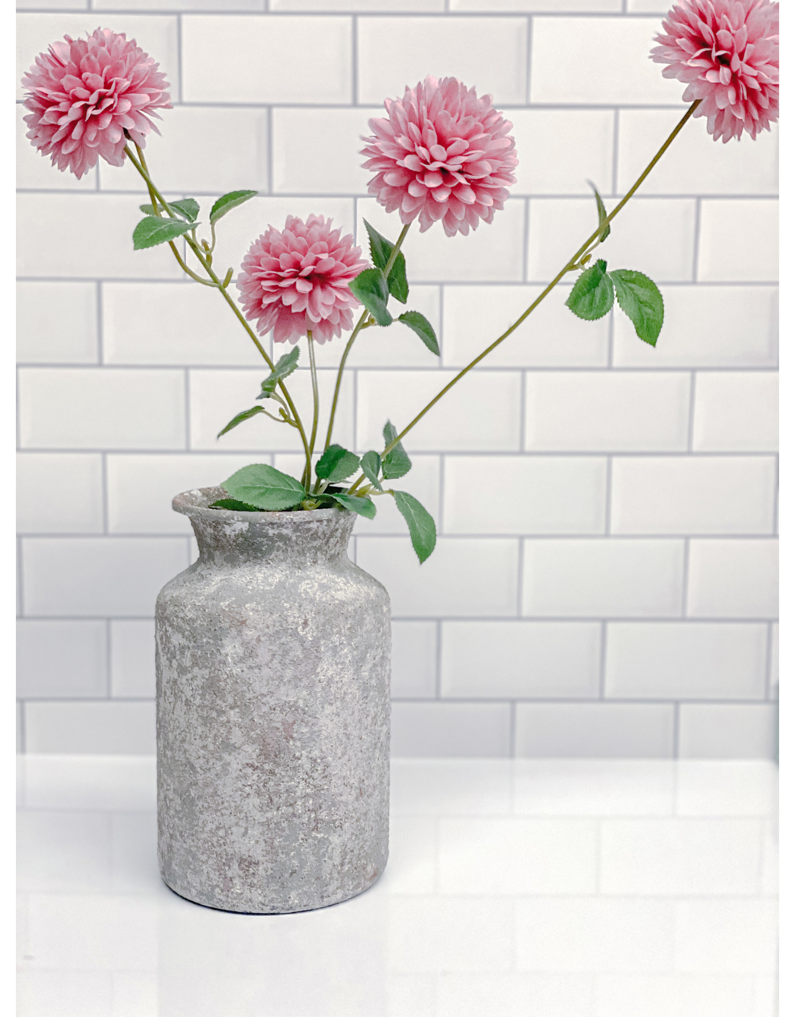 The Florist & The Merchant Pink Small Mum Floral Stem