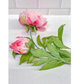 The Florist & The Merchant Peony Stem - Hot Pink