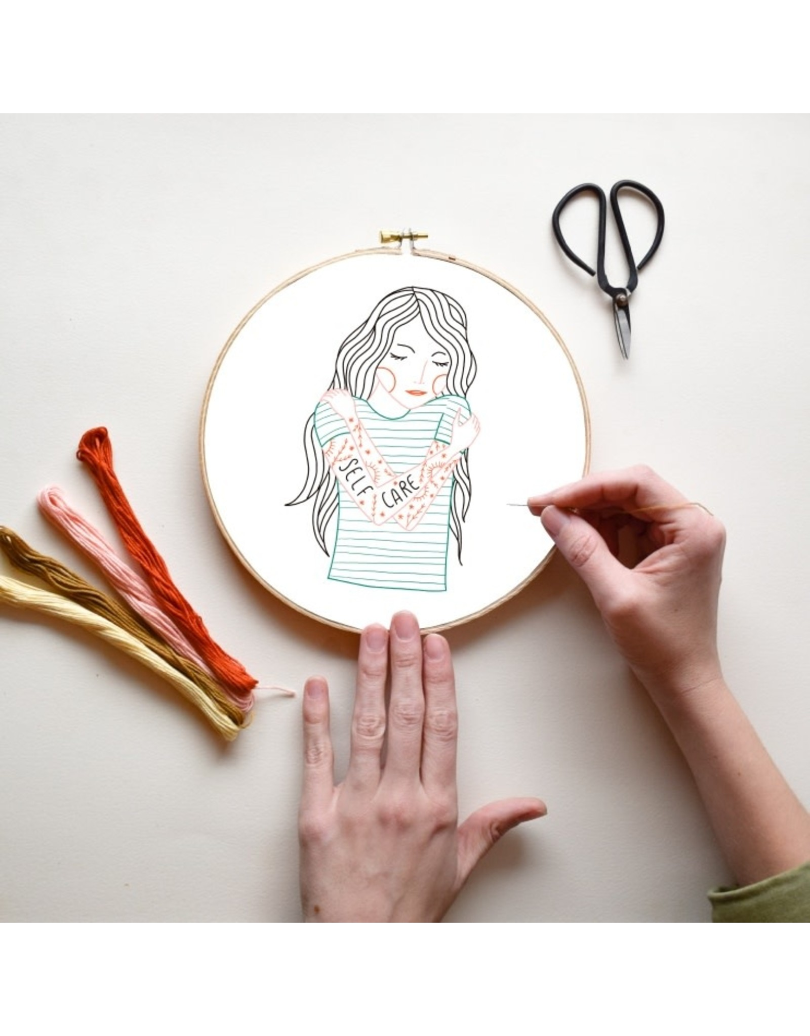 Gingiber Self Care DIY Embroidery Kit