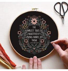 Gingiber Humblest Task Embroidery Sampler