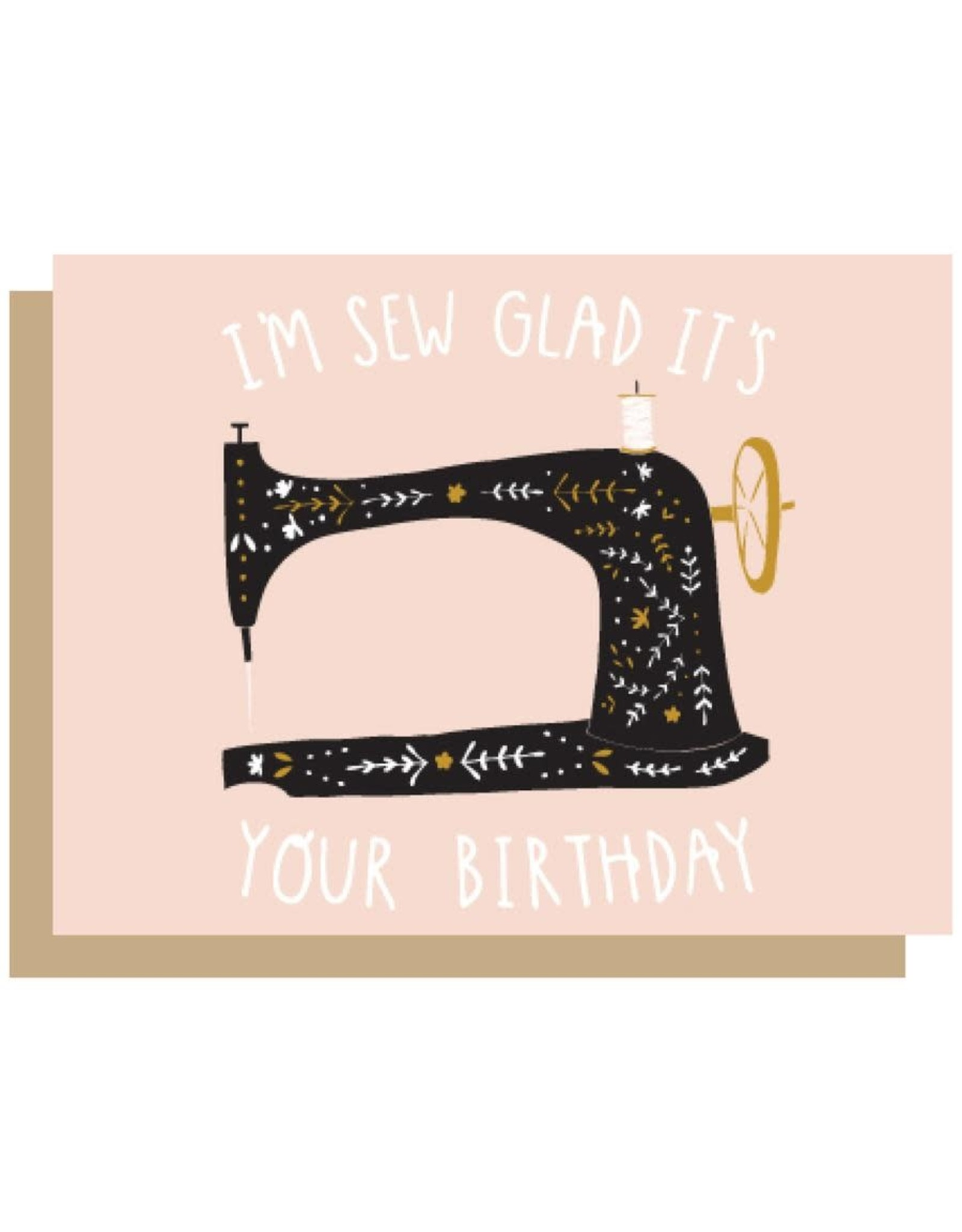 Gingiber Sew Glad Birthday Card
