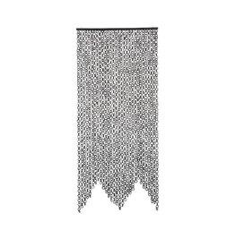 "Bloomingville 79""L Bamboo Link Curtain - Black"