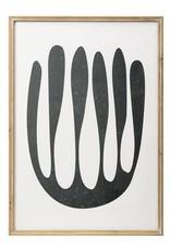 Bloomingville Wood Framed Black Abstract Print- Drip