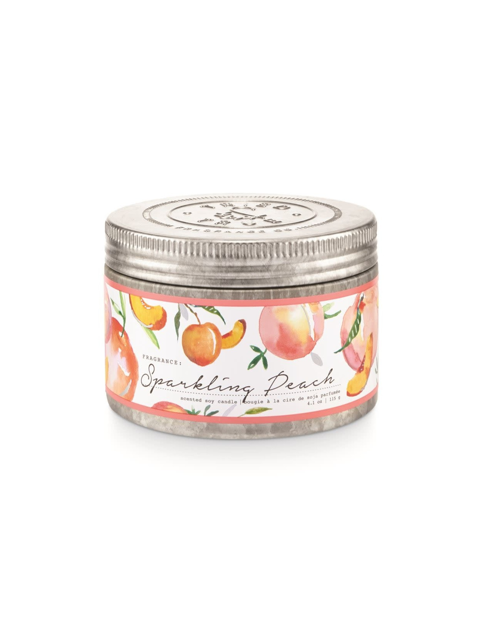 Tried & True 4.1 oz Tin Candle - Sparkling Peach