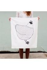 Gingiber Chicken B&W Tea Towel