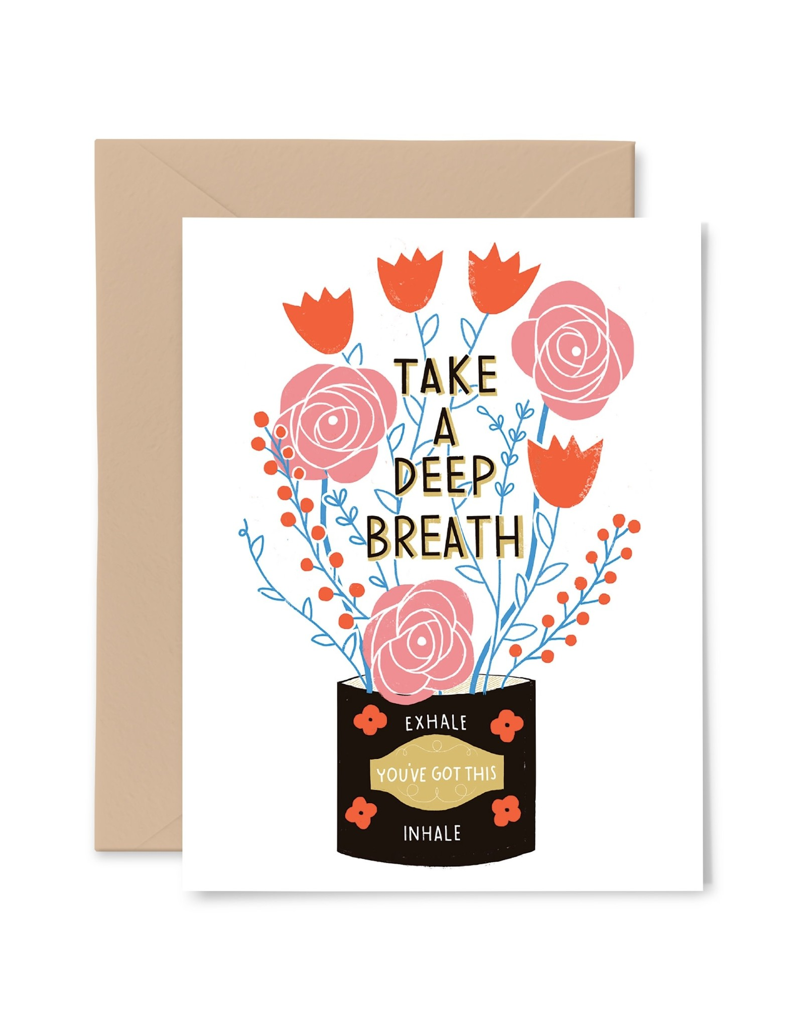 Gingiber Deep Breath Card