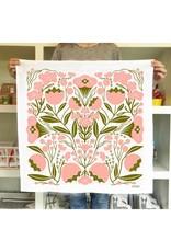 Gingiber Flowers Tea Towel