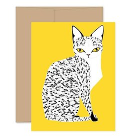Gingiber Yellow Mau Cat Card