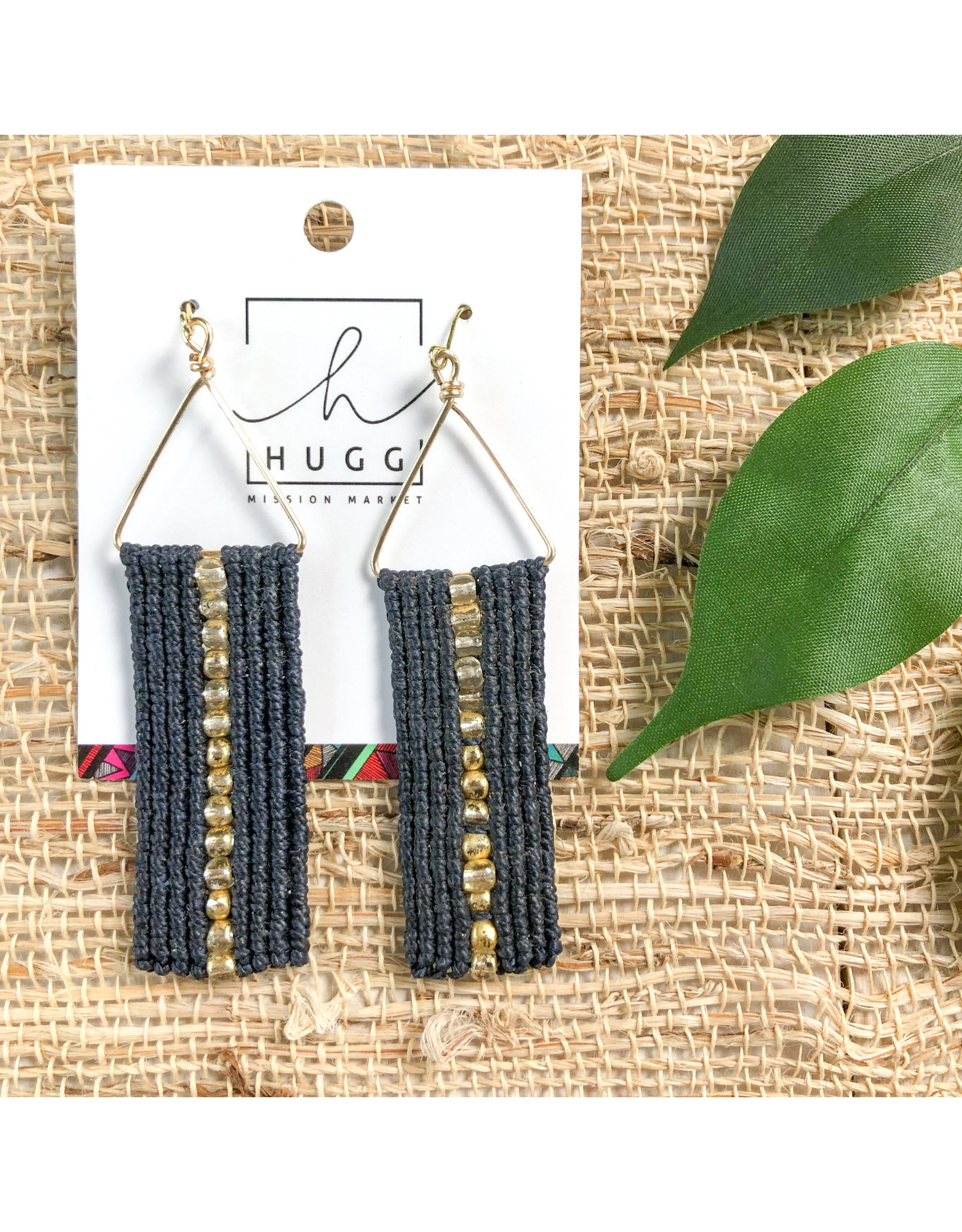 Hugg Mission Market Isabelle Earrings - Navy