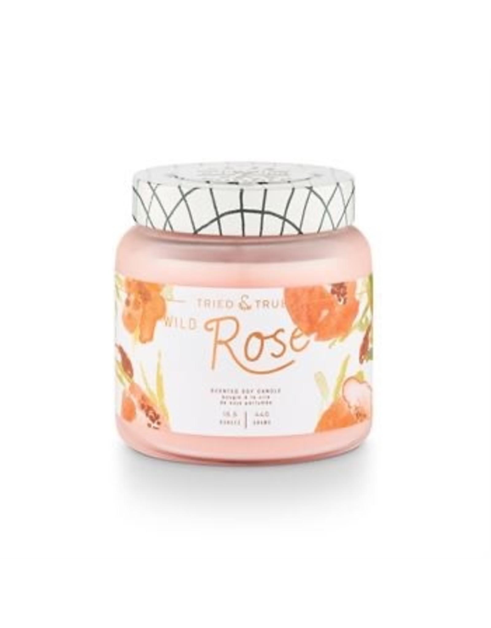 Tried & True 15.5 oz Soy Glass Jar Candle - Wild Rose