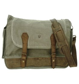Vintage Addiction Military Tent Crossbody/Messenger Bag - Olive