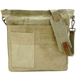 Vintage Addiction Recycled Military Tent Crossbody - Unisex