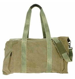 Vintage Addiction Military Tent Weekender Bag - Olive