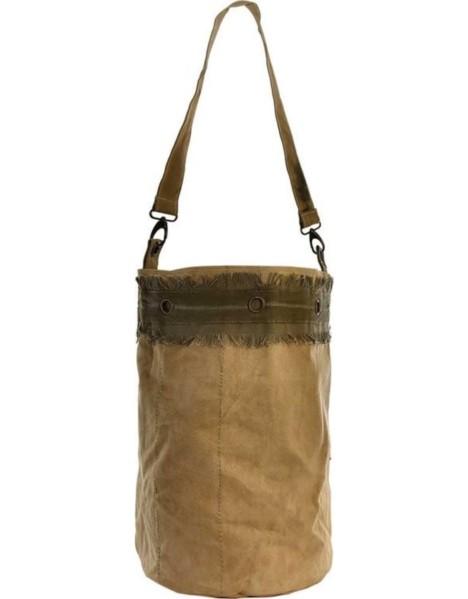 The Florist & The Merchant Recycled Military Tent Bucket Bag