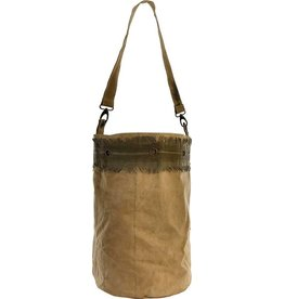 Vintage Addiction Recycled Military Tent Bucket Bag