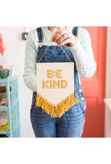 Cotton Clara Be Kind Embroidery Kit - Mustard