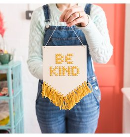 Cotton Clara Be Kind Embroidery Kit - Mustard