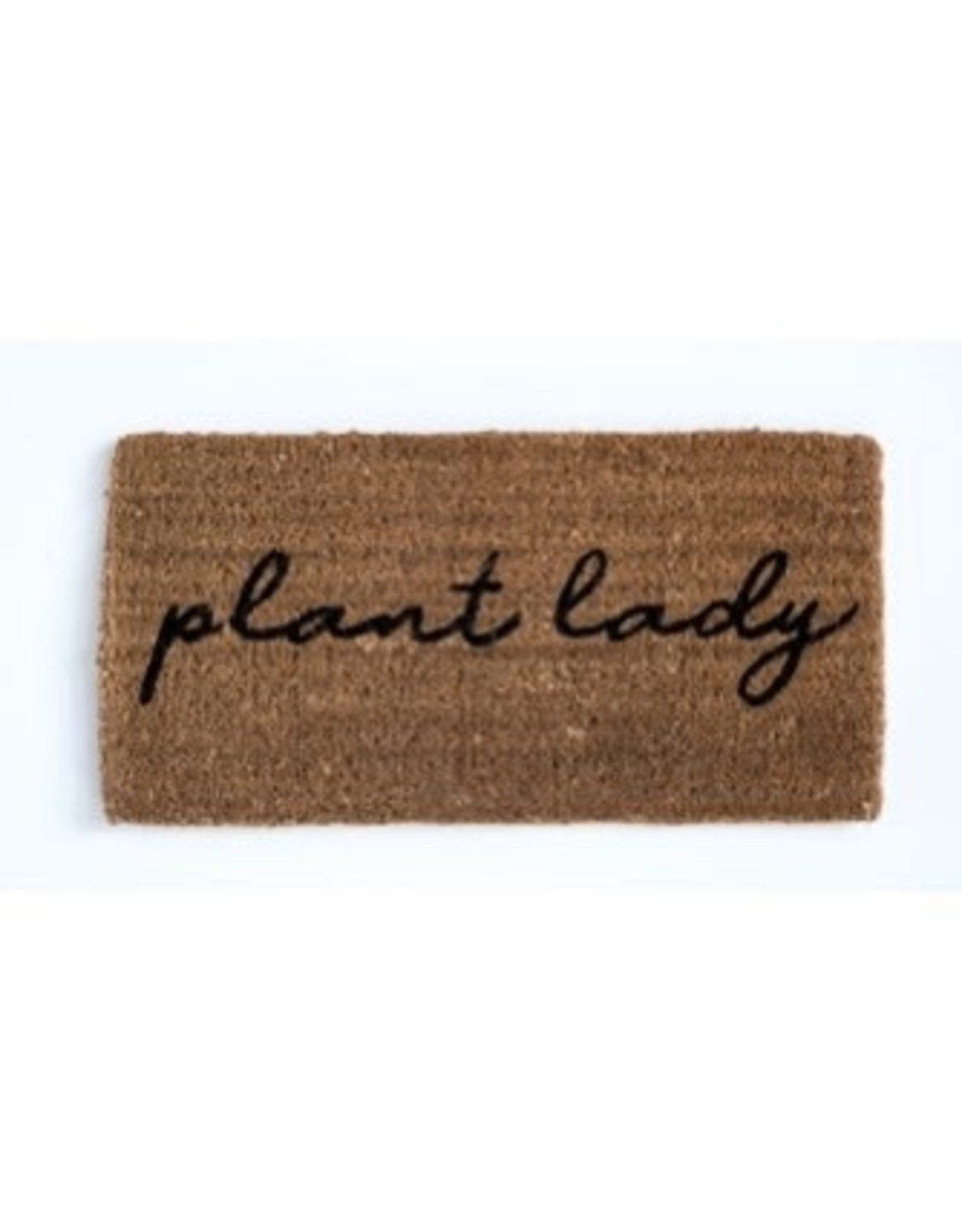 Creative Co-op Plant Lady Welcome Mat