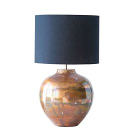 "Creative Co-op 23 1/4"" H Metal Lamp w/ Black Shade & Copper Finish"