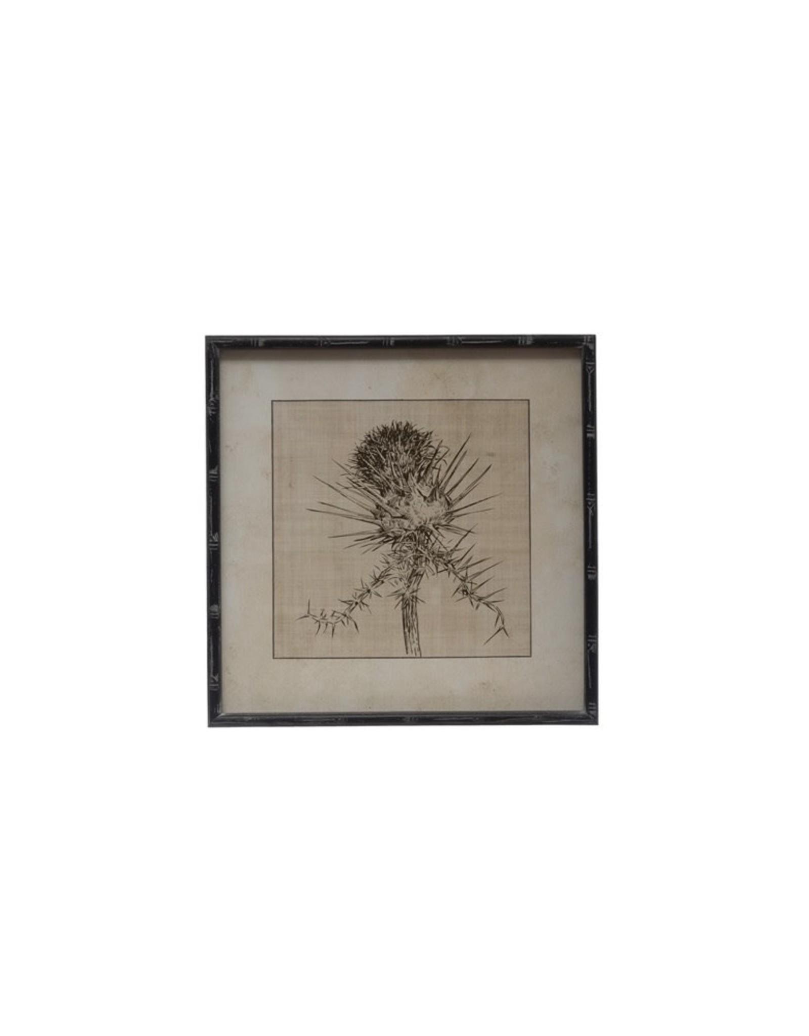 "Creative Co-op 20"" Square Wood Framed Wall Art - Dried Botanical"