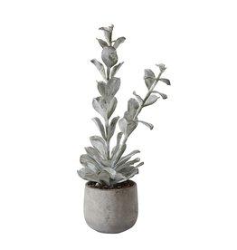 """Creative Co-op 23 1/2"""" Faux Succulent in Cement Pot"""