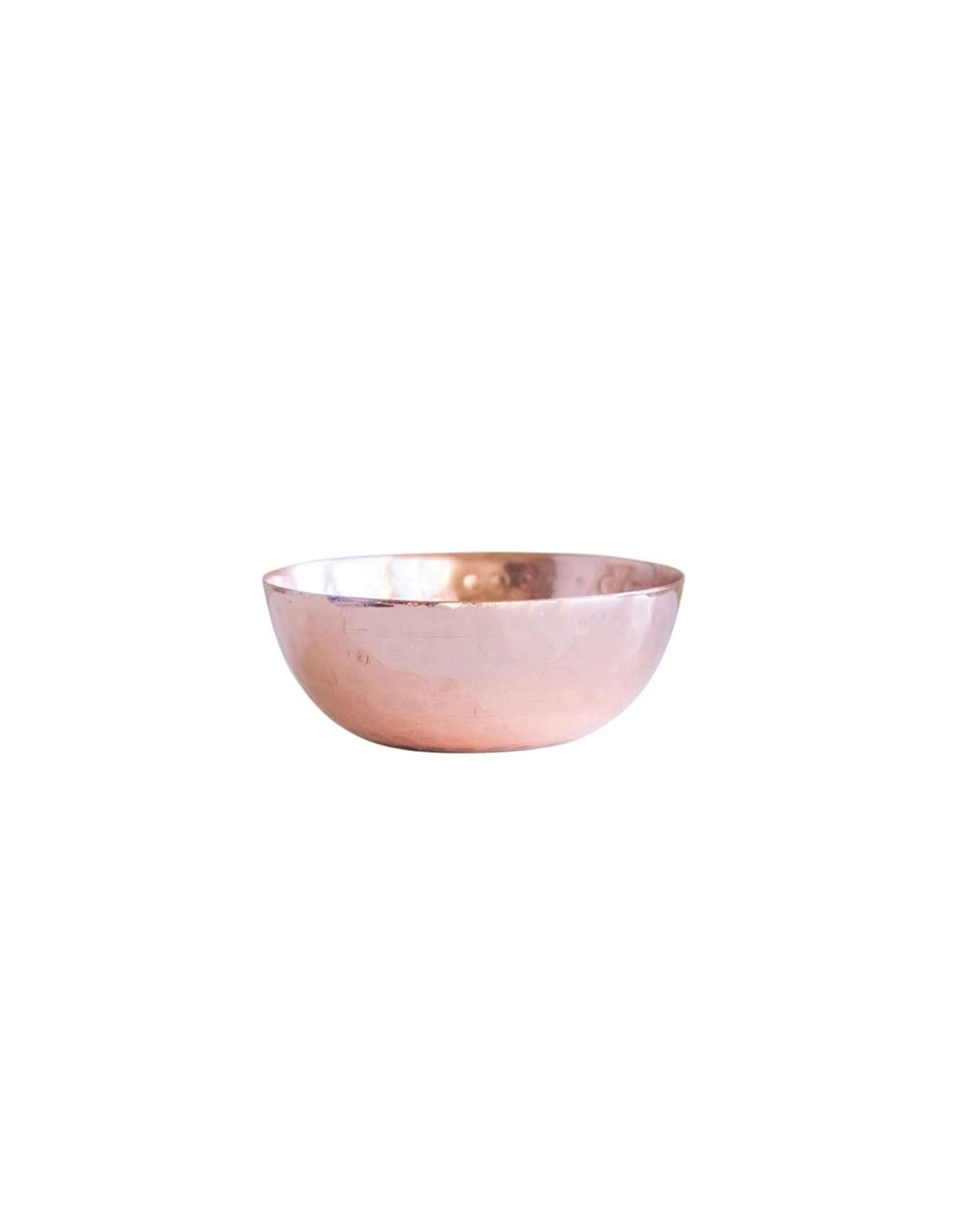 """Creative Co-op 2 3/4"""" Hammered Metal Pinch Pot - Copper Finish"""