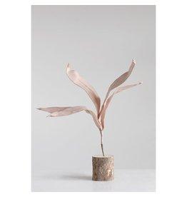 "Creative Co-op 25 1/2"" H Eva Leaf Branch - Blush"