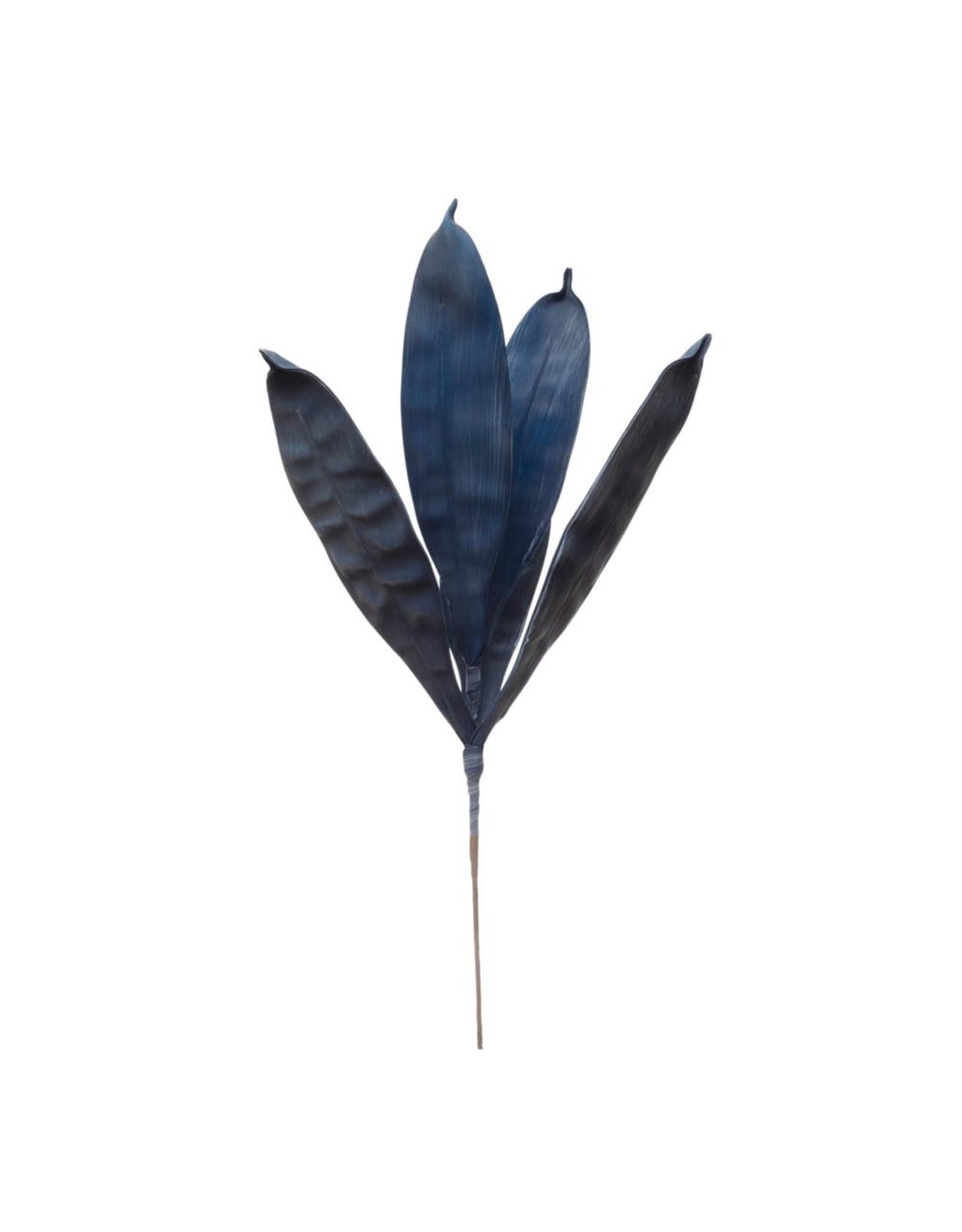 "Creative Co-op 25 1/2"" H Eva Leaf Branch - Dark Blue"