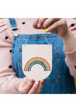 Cotton Clara Rainbow Embroidery Banner Kit - Warms