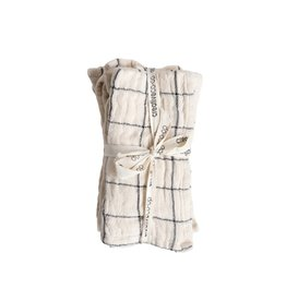 "Creative Co-op 18"" Woven Napkins Set w/ Plaid & Stripes - Natural"