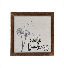 "Driftless Studios 6"" x 6"" Scatter Kindness Sign"
