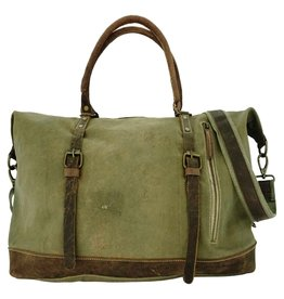 '76 Mens Mercantile Recycled Military Tent Travel Bag