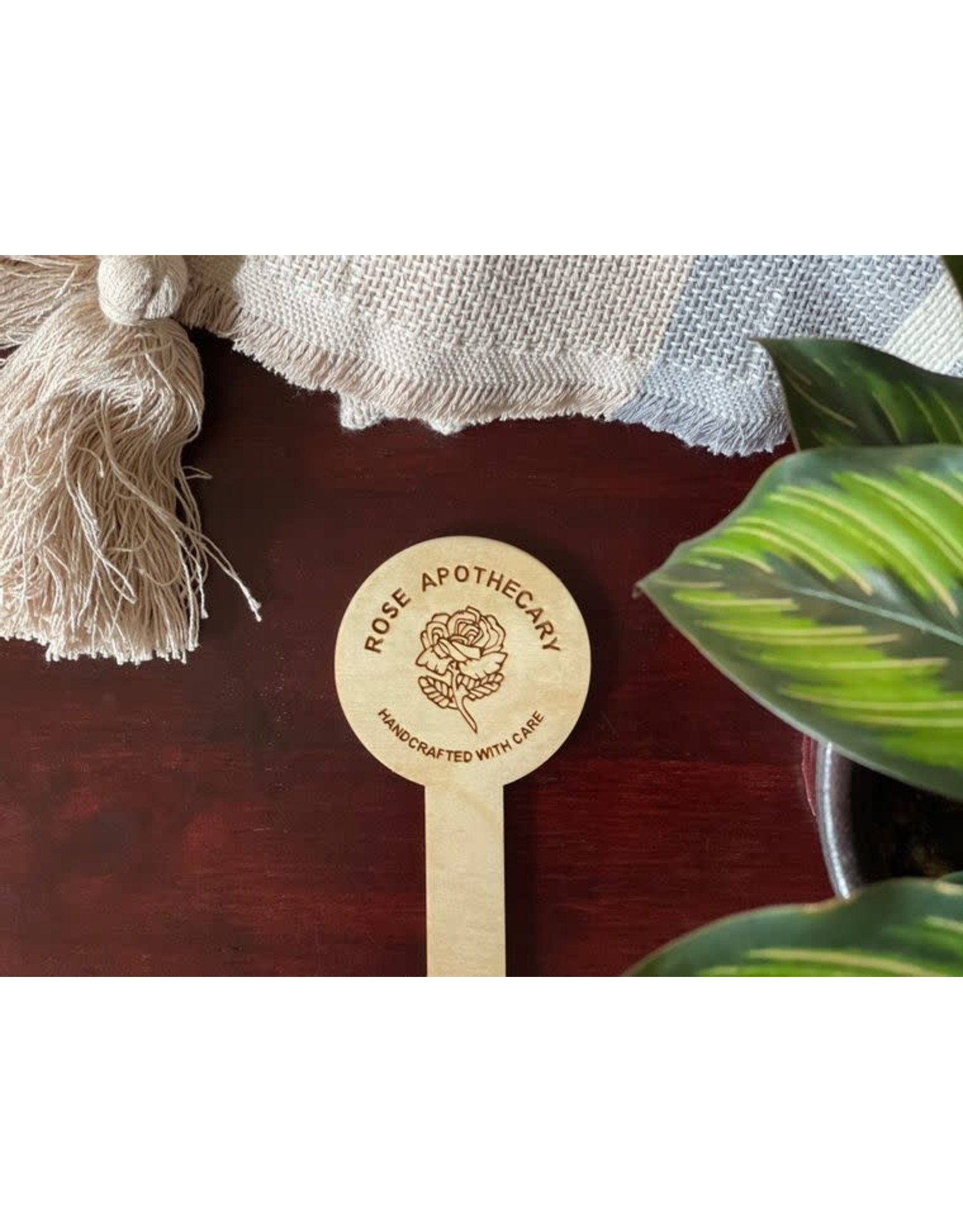 """Berlin Co. 5.5"""" Baltic Birch Rose Apothecary Plant Stake"""