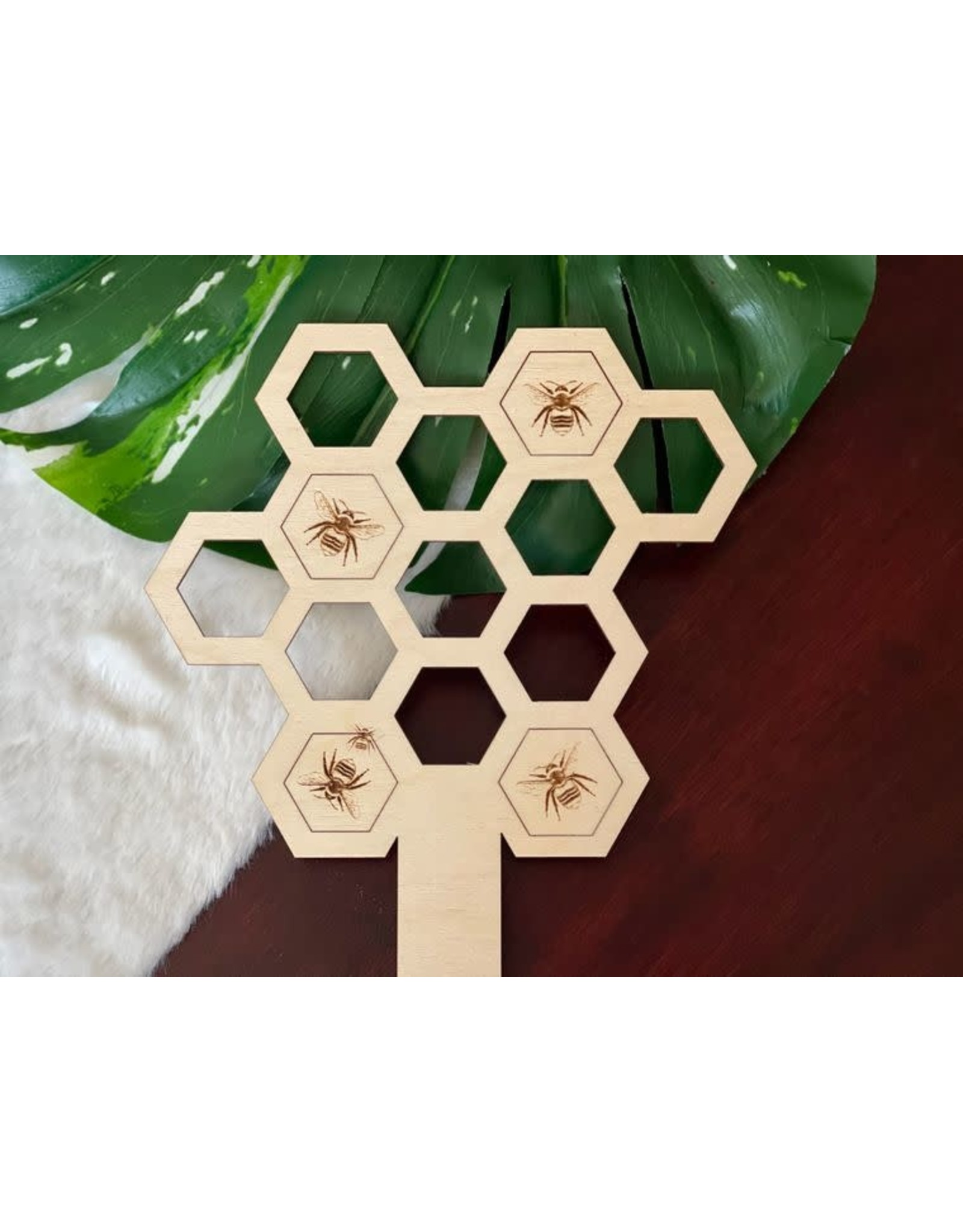 "Berlin Co. 9"" Baltic Birch Honeycomb & Bee Plant Trellis"
