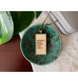 """Berlin Co. 24"""" Wooden Empowered Humans Necklace"""