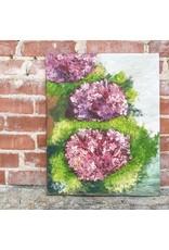 Katie Cahoj Burgundy Hydrangeas- Arcylic Painting