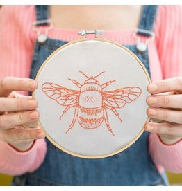 Cotton Clara Bee Hoop Embroidery Kit