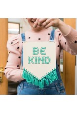Cotton Clara Be Kind Embroidery Kit - Mint Green